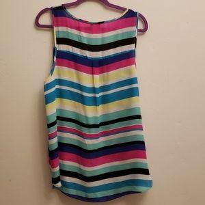 Torrid Tops - Torrid multi color striped sleeveless blouse sz 1